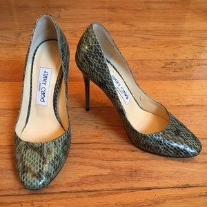 Jimmy Choo Snakeskin Heels